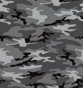 Grey camouflage pattern (seamless) Royalty Free Stock Photo