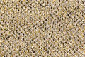 Grey carpet texture of with yellow elements Stock Photography