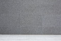 Grey cement wall and floor, abstract background Royalty Free Stock Photo