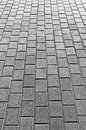 Grey Cobblestone Pavement Texture Background, Large Detailed Vertical Gray Stone Block Paving Perspective, Rough Textured Cobble Royalty Free Stock Photo