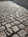 Grey cobblestones fine made out of granite Stock Photography
