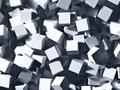 Grey cubes abstract background Stock Images