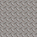 Grey diamond plate Stock Image