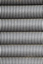 Grey electrical conduit or tubing Stock Images
