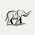 Grey Elephant Vector Royalty Free Stock Photo