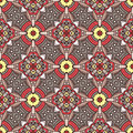 Grey ethnicity pattern floral seamless with motif Royalty Free Stock Image