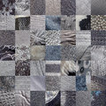 Grey fabrics patchwork background pictures Stock Image