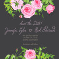 Grey floral design frame vector element Royalty Free Stock Photo