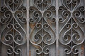Grey forged decorative lattic Stock Photography