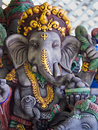 Grey Ganesh Elephant God Statue Royalty Free Stock Photo