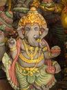 Grey Ganesh Elephant God Statue in Sleeping Royalty Free Stock Photo