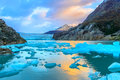 Grey Glacier,Patagonia, Chile,Southern Patagonian Ice Field, Cor Royalty Free Stock Photo