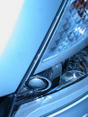 Grey headlight Royalty Free Stock Photo