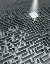 Grey Labyrinth Stock Photos