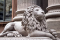 Grey Lion Statue Front Right Royalty Free Stock Photo