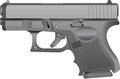 A Grey Metal Handgun Royalty Free Stock Photo