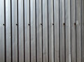 The grey metal wall of a shed Stock Photography