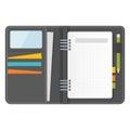 Grey notebook organizer