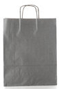 Grey paper bag over white background Royalty Free Stock Photography