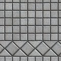 Grey Pave Slabs in the Form of Small Squares and Royalty Free Stock Photo