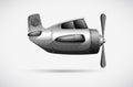 A grey propeller