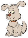 Grey pup (vector clip-art) Royalty Free Stock Photo