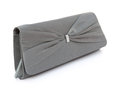 Grey purse Royalty Free Stock Photo