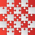 Grey Puzzle Pieces Red - JigSaw Field Chess Royalty Free Stock Photo