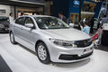 Grey qoros car new in the th zhengzhou dahe spring international auto show take from zhengzhou henan china Stock Image