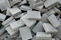 Grey rectangular paving tiles a pile of concrete Royalty Free Stock Photography