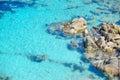 Grey rocks in capo testa clear water sardinia Stock Photo