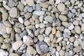 Grey rocks pebbles texture natural pattern gravel Royalty Free Stock Photo