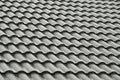 Grey Roof Tiles In The Rain