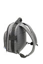Grey rucksack isolated on white Stock Images