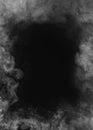 Grey Smoke Frame On Black Back...