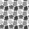 Grey snow clouds seamless pattern Photos stock