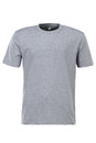 Grey t-shirt for branding isolated on white background Royalty Free Stock Photo