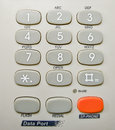 Grey telephone keypad closeup of Stock Image