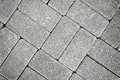 Grey tiles give a harmonic pattern Royalty Free Stock Photo