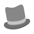 grey tophat icon Royalty Free Stock Photo