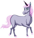 Grey unicorn illustration of a Stock Images