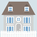 Grey vector house icon Royalty Free Stock Photo