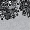 Grey vintage floral ornamental template on flower Royalty Free Stock Photo