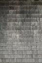 Grey weathered cedar shakes shingles background Royalty Free Stock Photo
