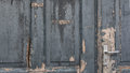 Grey weathered paint door Stock Images