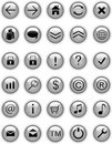Grey web icons, buttons Stock Images