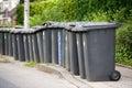Grey wheelie bins