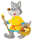 Grey Wolf mushroomer Royalty Free Stock Images