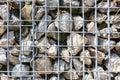 Grey Yellow Stone Wall Reinforced Metal Texture Macro Royalty Free Stock Photo