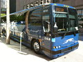 Greyhound bus parked curbside is the largest intercity company in the united states Royalty Free Stock Image